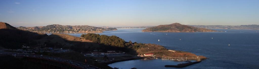 Vue sur le nord du Golden Gate